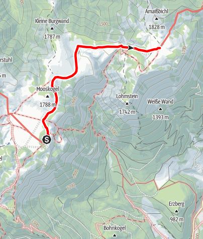 Karte / Übergang vom Schneealpenhaus zur Lurgbauerhütte