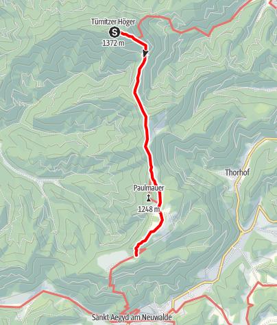Karte / Übergang von der Türnitzer Hütte zur Zdarsky Hütte