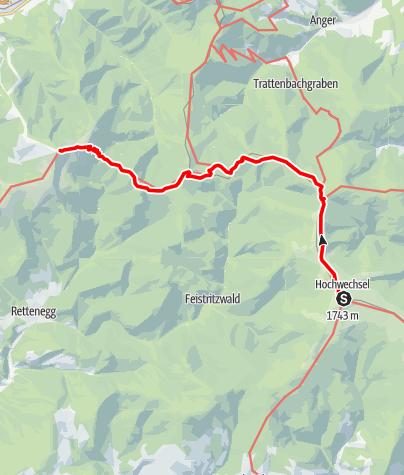Karte / Übergang vom Wetterkoglerhaus zum Alois-Günther-Haus