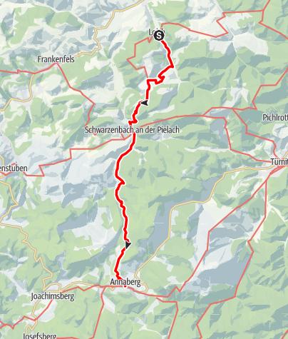 Karte / Pielachtaler Pilgerweg: Etappe 3/4: Loich - Annaberg