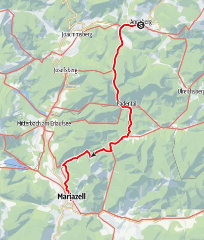 Karte / Pielachtaler Pilgerweg: Etappe 4/4: Annaberg - Mariazell