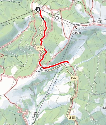 Karte / Frühlingswanderung von der Frommer Alm zur Ochsenhütte