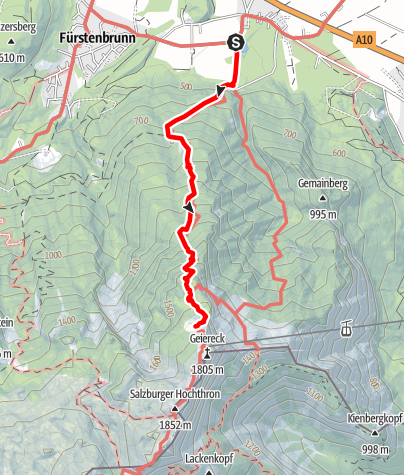 Karte / Zustieg von Glanegg zum Zeppezauerhaus (Reitsteig)