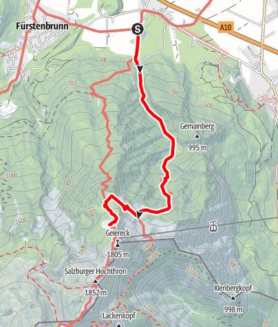 Karte / Zustieg von Glanegg zum Zeppezauerhaus (Dopplersteig)