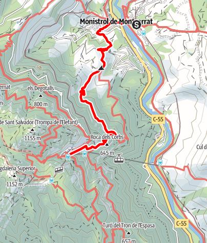 Karte / Zum Kloster Montserrat