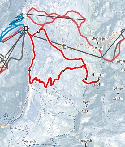 Karte / Marchkopf 2499m von Hochfügen