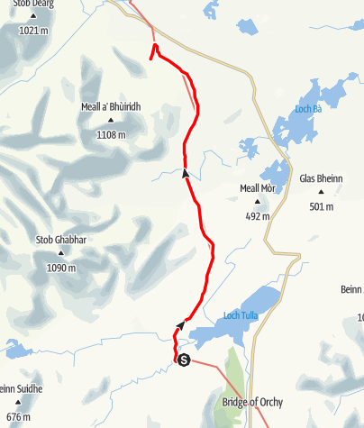 Karte / Inveroran to Glencoe Ski Centre / Shuttle Pick-Up