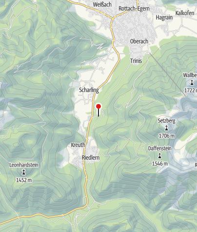 Karte / Parkplatz Brunnbichl Wertstoffhof, Öffentliche Toilette