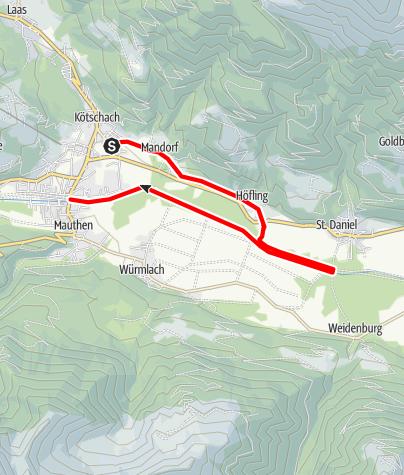 Karte / Rundwanderweg Mandorf - Höfling - Gailweg