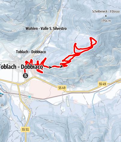 Karte / Zur Lachwiesenhütte von Toblach
