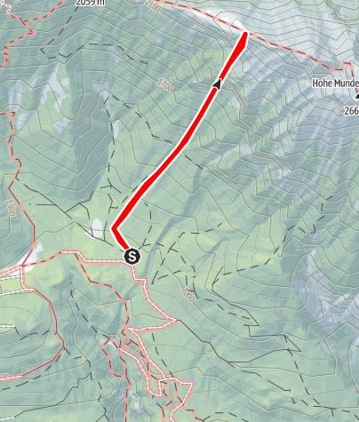 """Karte / """"Junge Römer"""" 8, SWW, 280m, Kolosseum- Hohe Munde"""