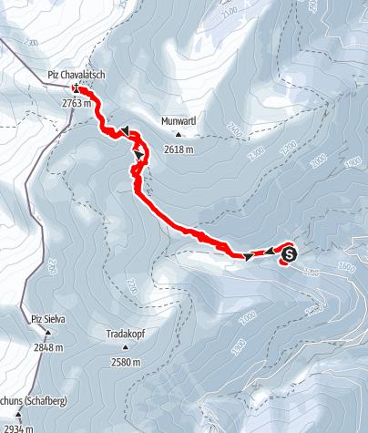 Karte / Von Stilfs auf den Chavalatsch