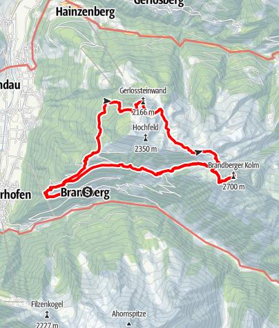 Karte / Brandberger Kolm - zum Wahrzeichen von Brandberg