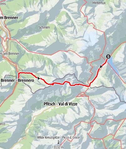 Karte / Auf Spurensuche vom Zillertal ins Wipptal