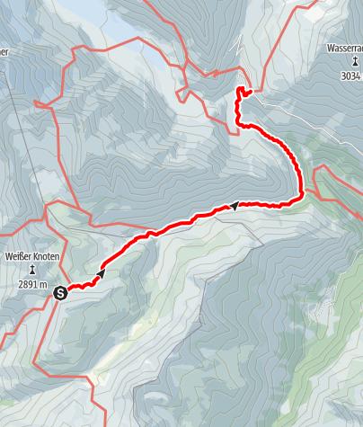 Karte / Übergang Glorer Hütte zum Glocknerhaus
