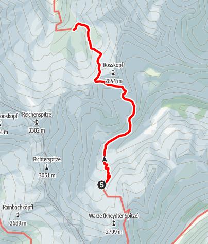 Karte / Von den Zillertaler Alpen in die Hohen Tauern - 2. Etappe