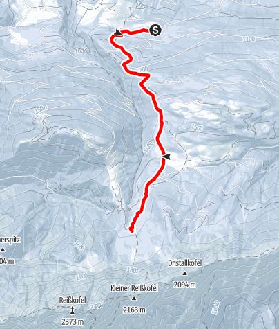 Karte / Schneeschuhwanderung zur Comptonhütte