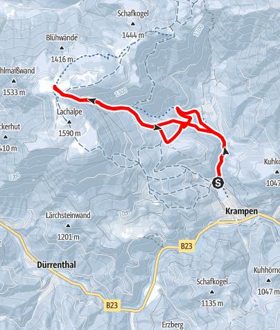 Karte / Skitour auf die Lachalm