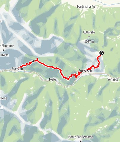 Karte / Valle Varaita Trekk 2. Etappe: Isasca-Frassino