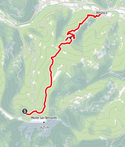 Karte / Valle Varaita Trekk 11. Etappe: Santuario di Valmala - Venasca