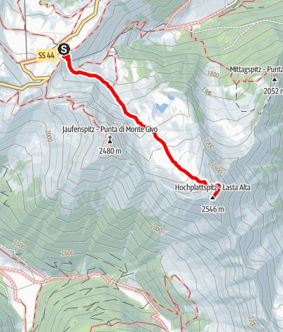Karte / Hochplattspitze