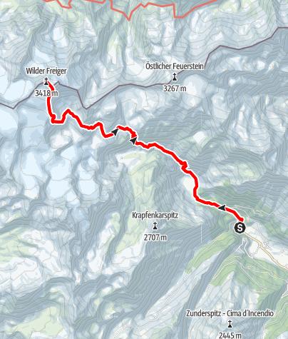 Karte / Wilder Freiger