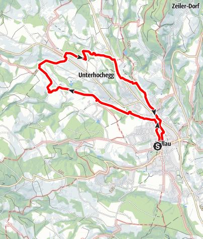 Karte / Pöllau - Saifen Boden - Saifenberg -  Pöllau