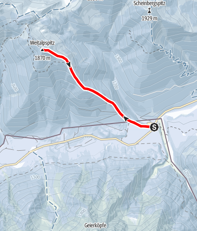 Karte / Weitalpspitz