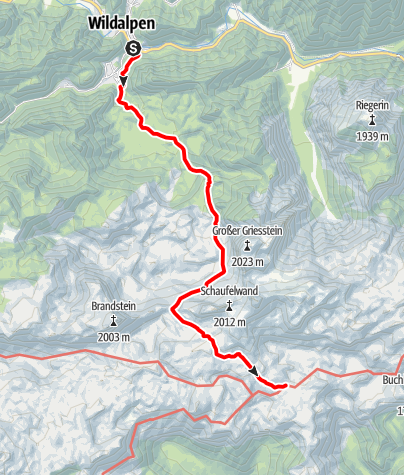 Karte / Zustieg von Wildalpen zur Sonnschienhütte