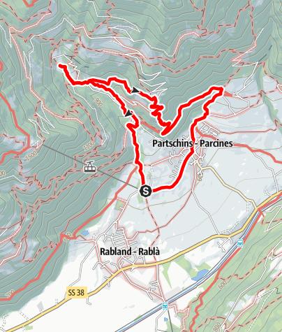 Karte / Familienwanderung zum Partschinser Wasserfall