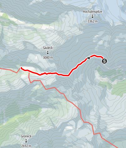 Karte / Übergang Gießener Hütte zum Arthur von Schmid Haus
