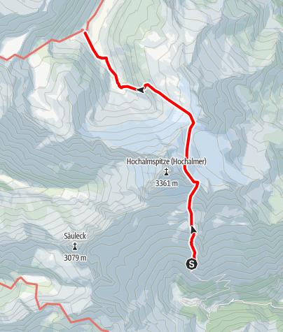 Karte / Übergang Gießener Hütte zur Osnabrücker Hütte