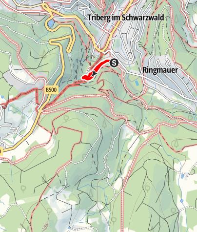 Map / מפלי טריברג (Triberger Wasserfälle)