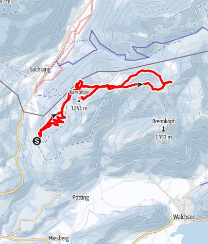 Map / Frühlingserwachen im Kaiserwinkel-Karspitz und Wandberg