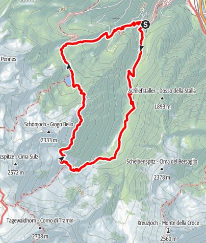 Karte / Von Grasstein zum Puntleider See