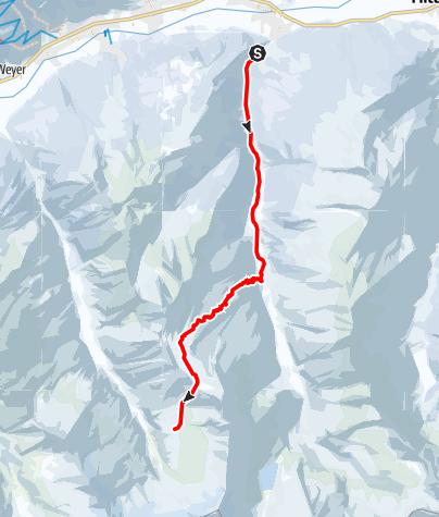 Karte / Zustieg Neue Thüringer Hütte durch das Hollersbachtal