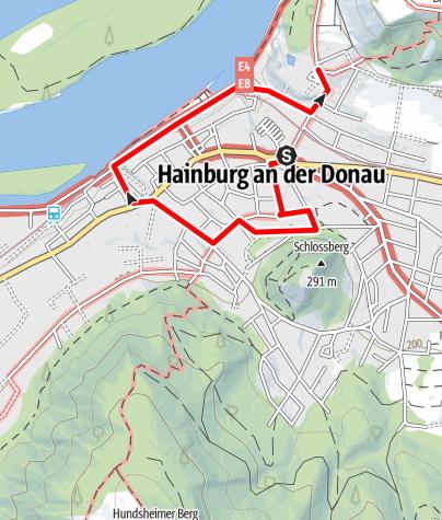 Karte / Aussichtsberge im Osten in NÖ in den kl.Karpaten Teil2-Braunsberg und Hainburg