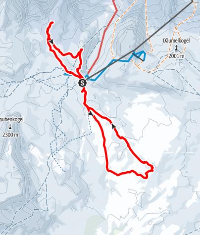 Karte / Hoher Tag (2020m), Dachsteingebirge