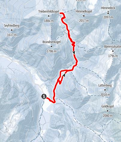 Karte / Moartörl von der Bergerhube