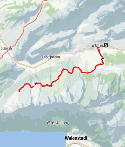 Karte / Toggenburger Höhenweg (1. Etappe)