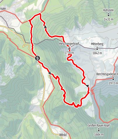 Map / Rundtour von Hallthurm über Zehnkaser  zum Hirschangerkopf
