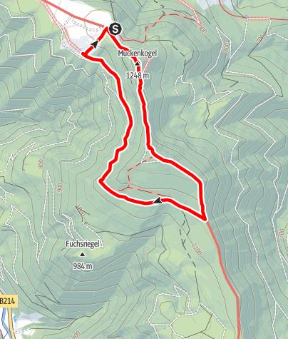 Karte / Tour zu den Gipfelklaengen 2019, Tag 2
