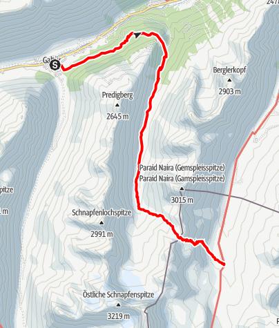 Karte / Zustieg Heidelberger Hütte von Galtür