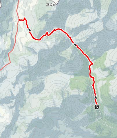 Karte / Zustieg Heidelberger Hütte vom Val Sinestra