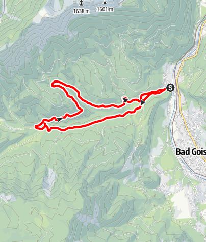 Karte / Naturraum Almen - Naturlehrpfad Weissenbachtal MTB