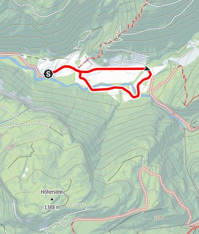 Karte / Naturraum Almen - Naturlehrpfad Wanderung Rettenbachalm