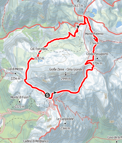 Map / VF3 Stage 6 - Passportensteig & Innerkofler de Luca Via Ferratas
