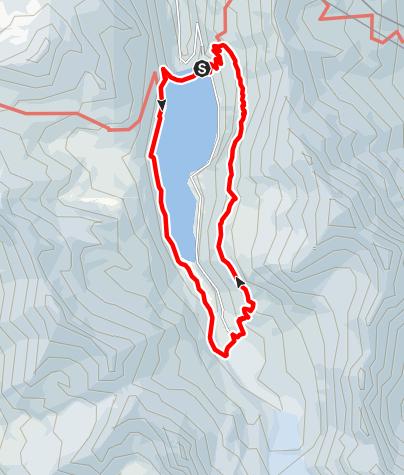 Map / Rundwanderung um den Lac de Moiry