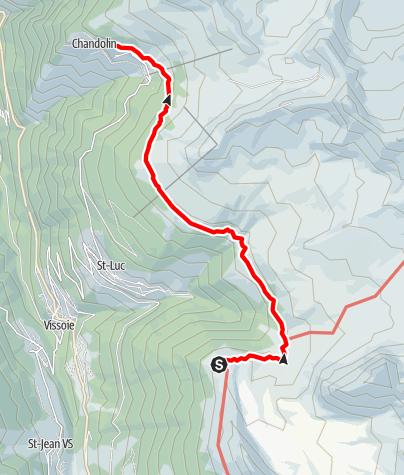 Map / Wanderung nach Saint-Luc oder Chandolin