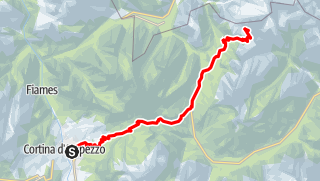 Map / VF3 Stage 6 - Bus Transfer from Cortina to Rifugio Auronzo